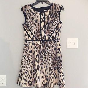 Animal print dress. Needs zipper fixed.